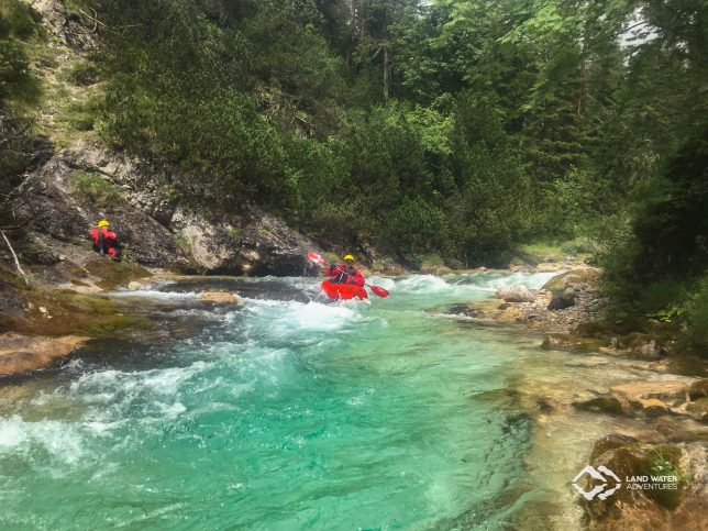 Wildwasserpackrafting auf dem Lech 2017 © Land Water Adventures