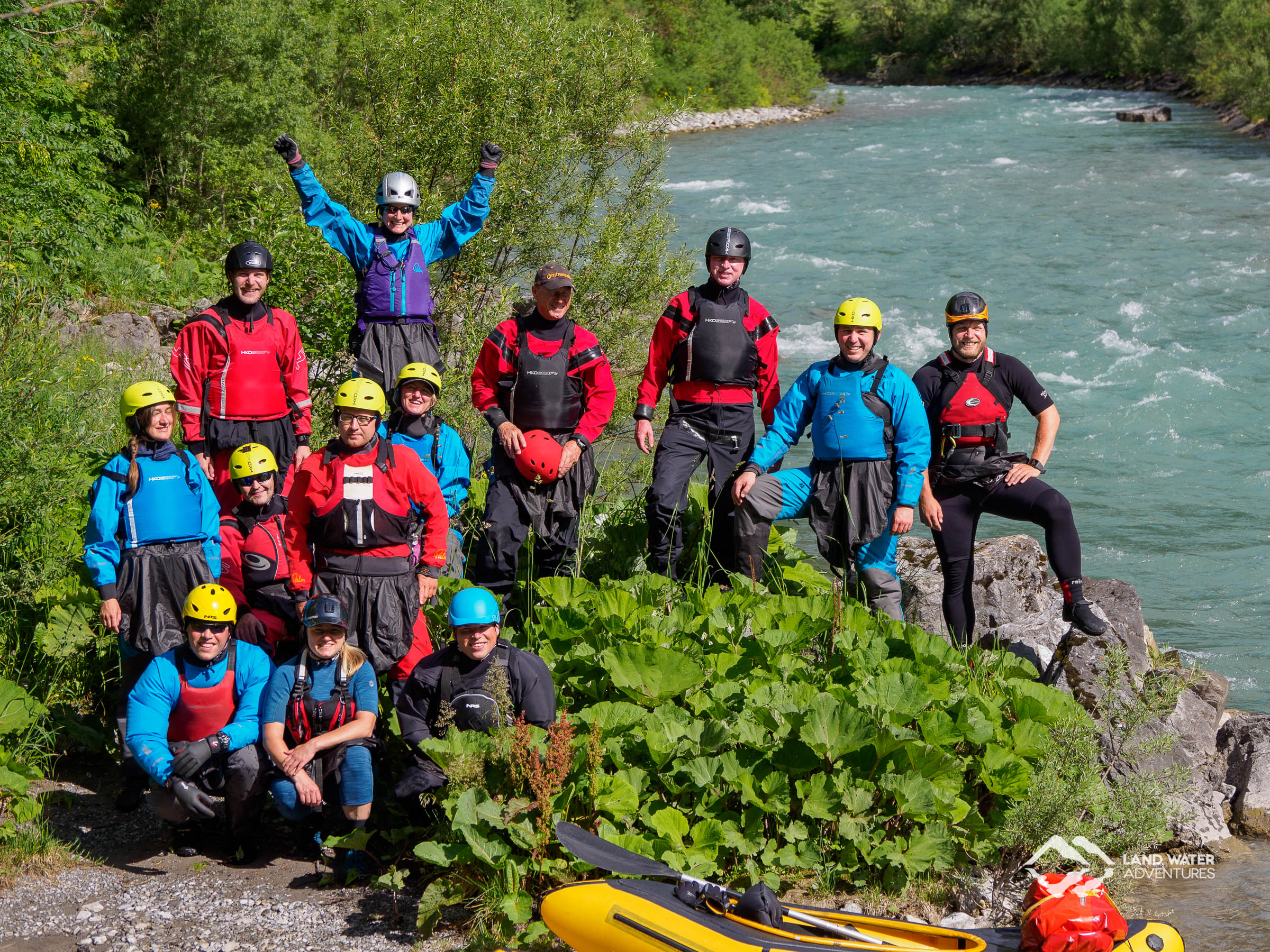 Land Water Adventures Crew at Isar © Land Water Adventures