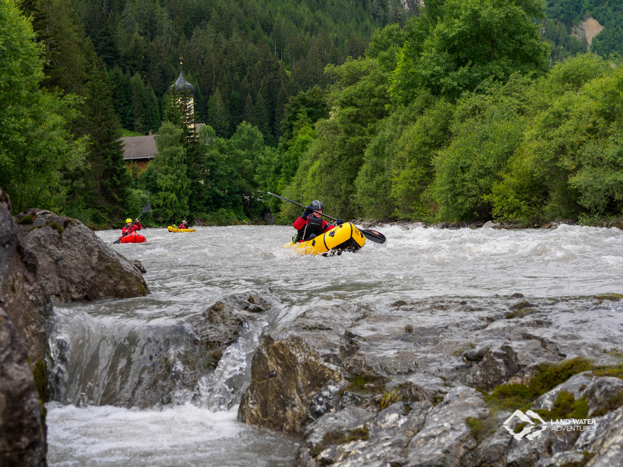 Whitewater Packrafting Course Tirol Lech © Land Water Adventures
