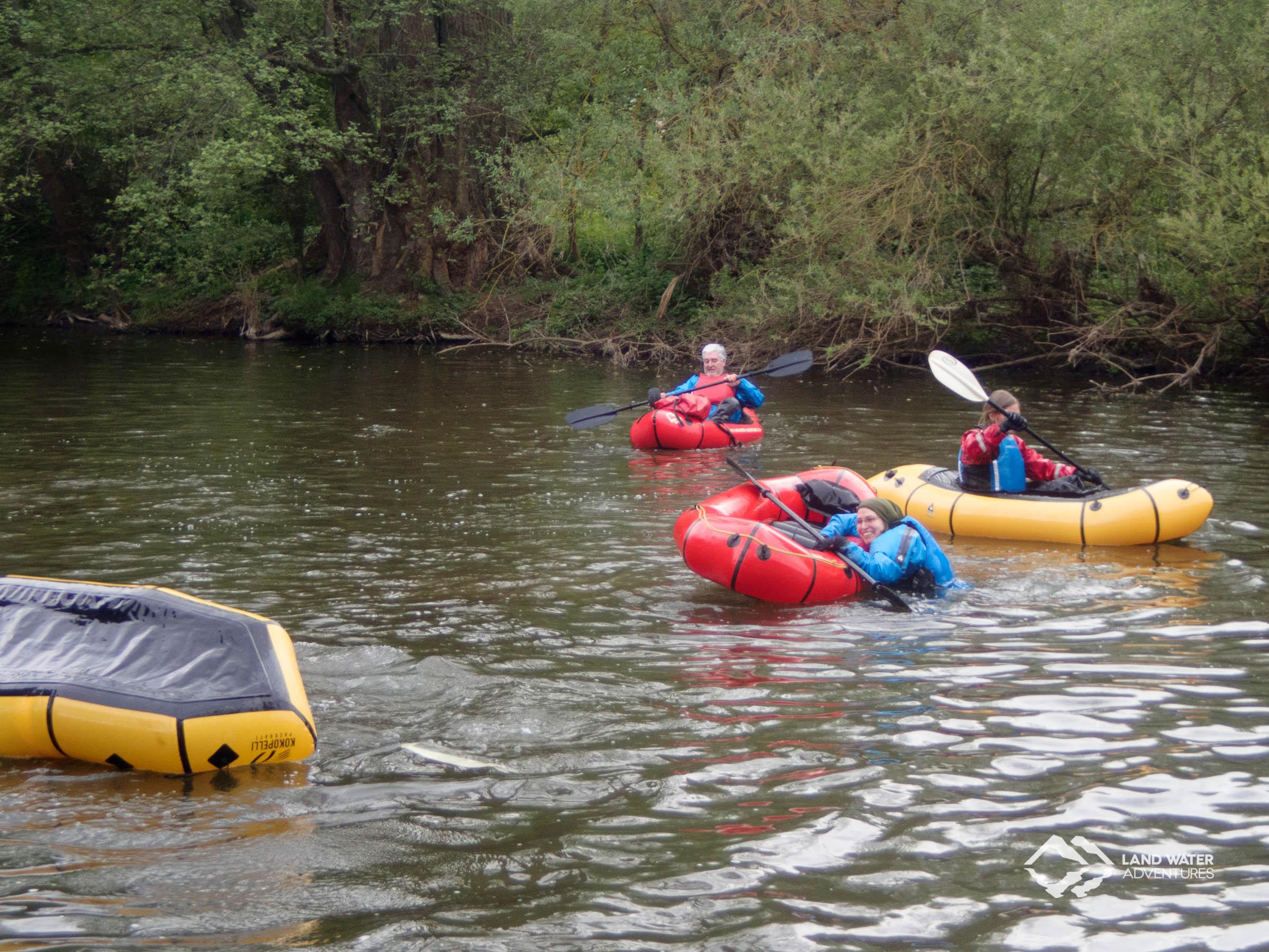 Kenterübungen auf der Nahe © Land Water Adventures