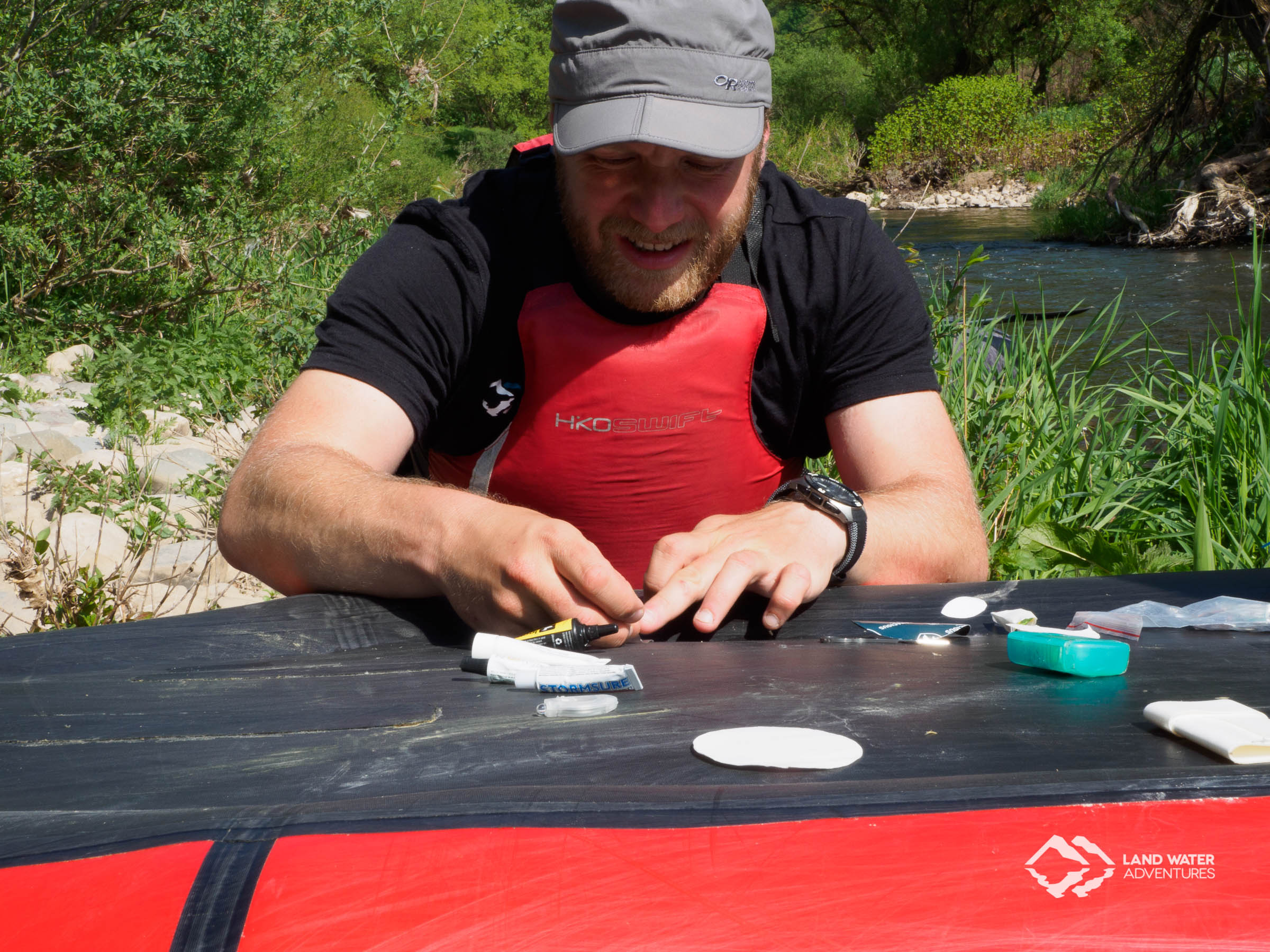Reparaturworkshop an der Nahe 2018 © Land Water Adventures