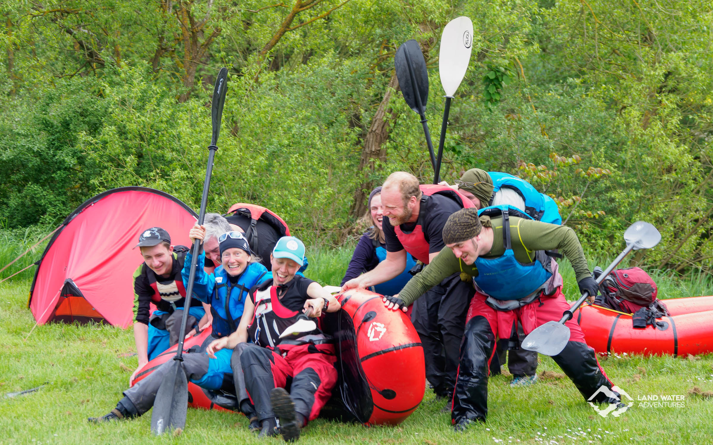 Multiday Packrafting Kurs 1 Abschluss © Land Water Adventures
