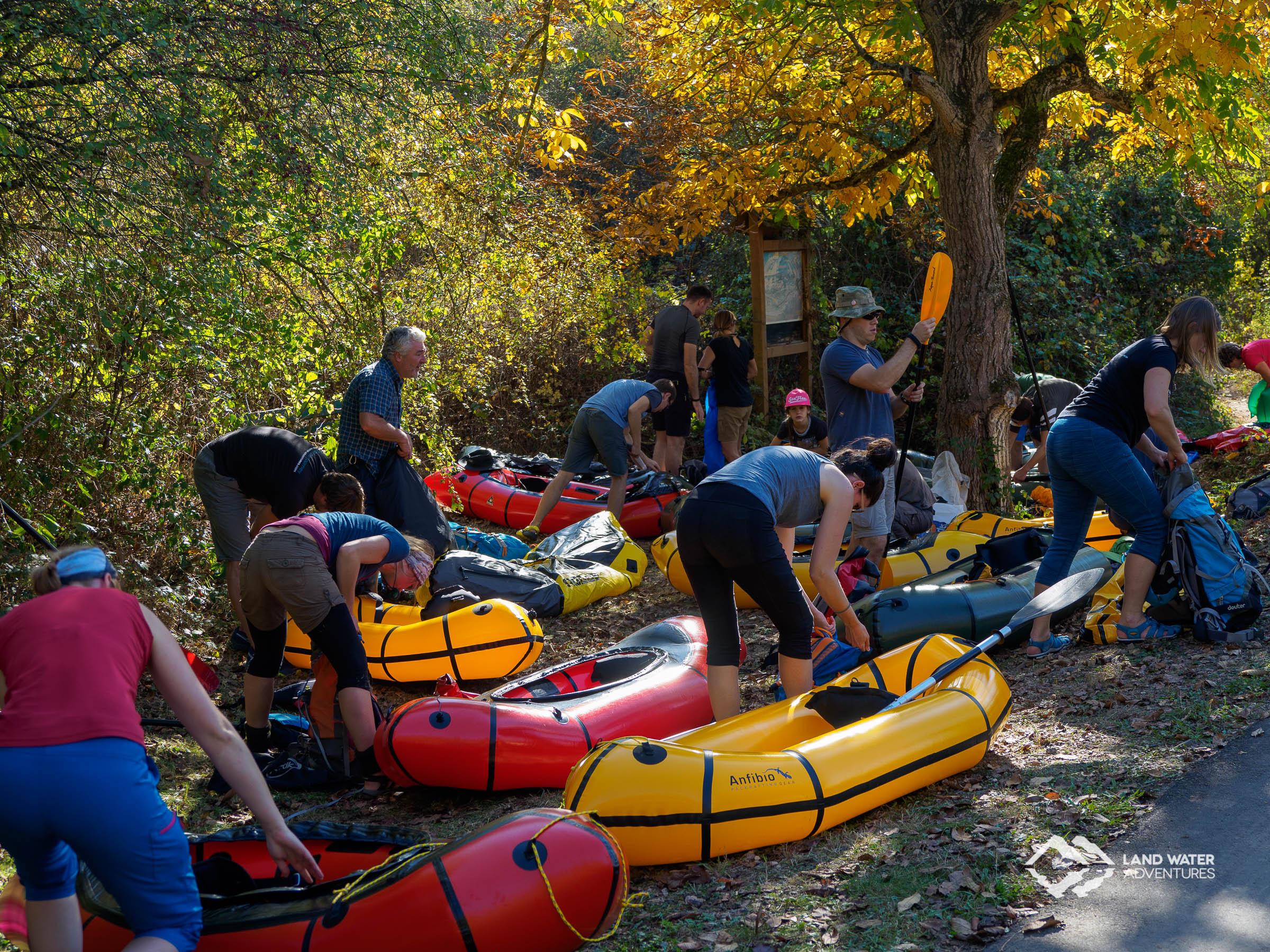 Aufbau Nahe-Run Herbst © Land Water Adventures