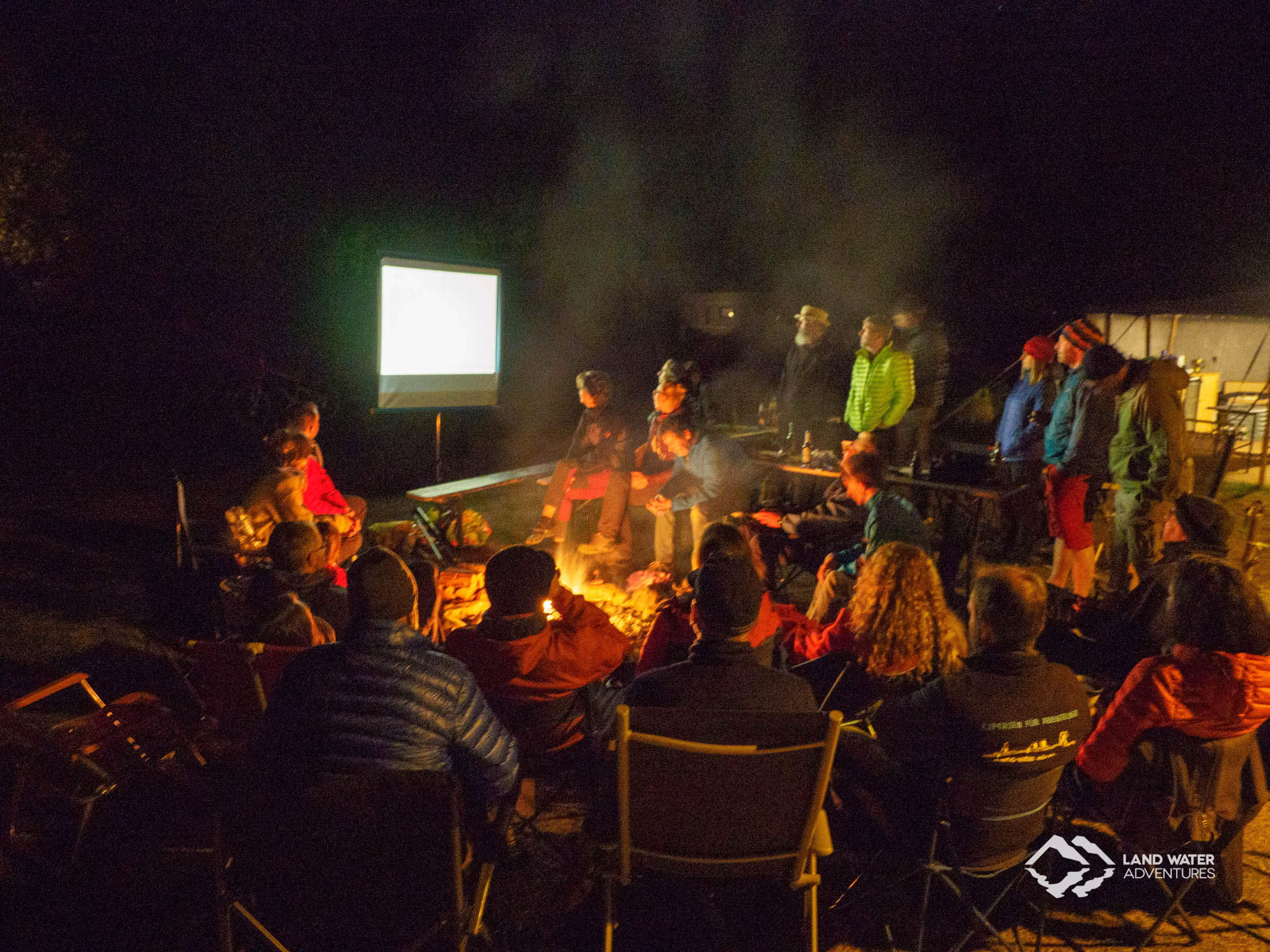 Campfire evening end of season 2018 © Land Water Adventures