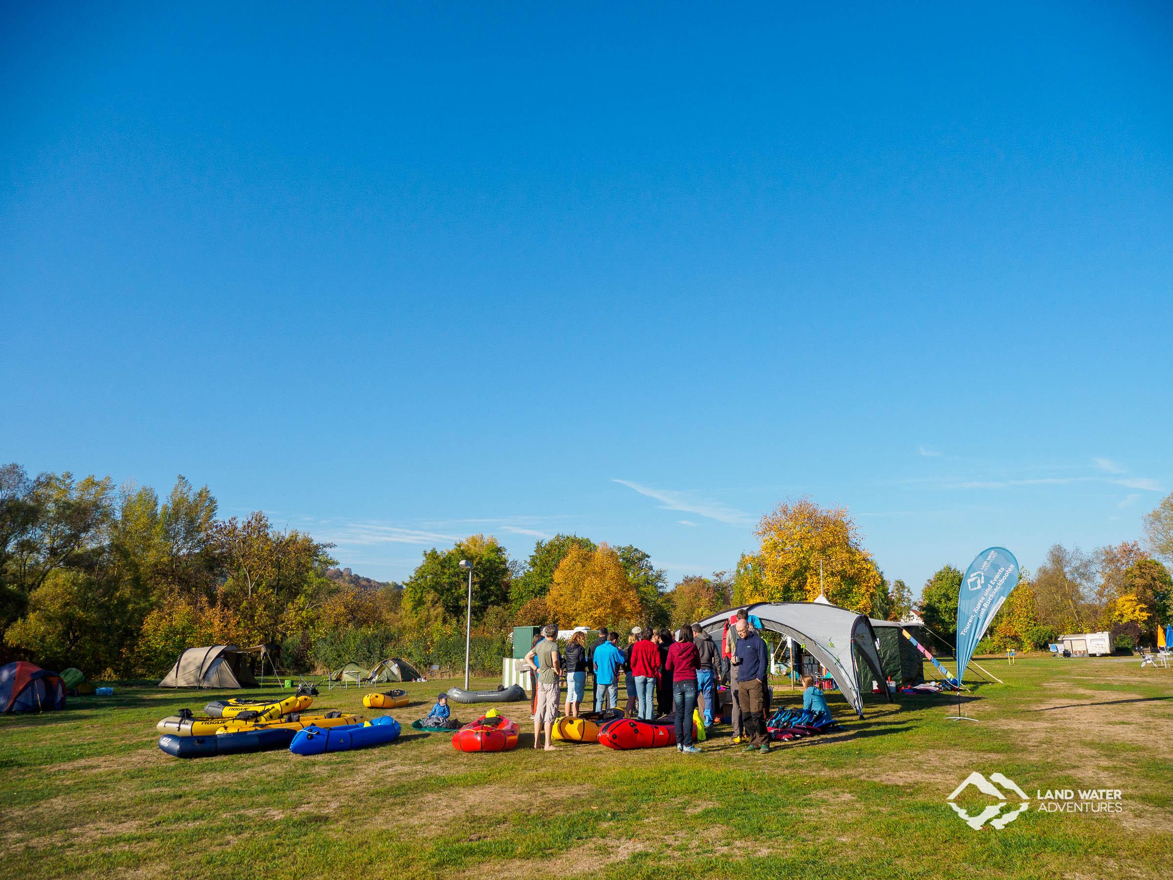 Zeltwiese Nahemühle Saisonabschluss 2018 © Land Water Adventures