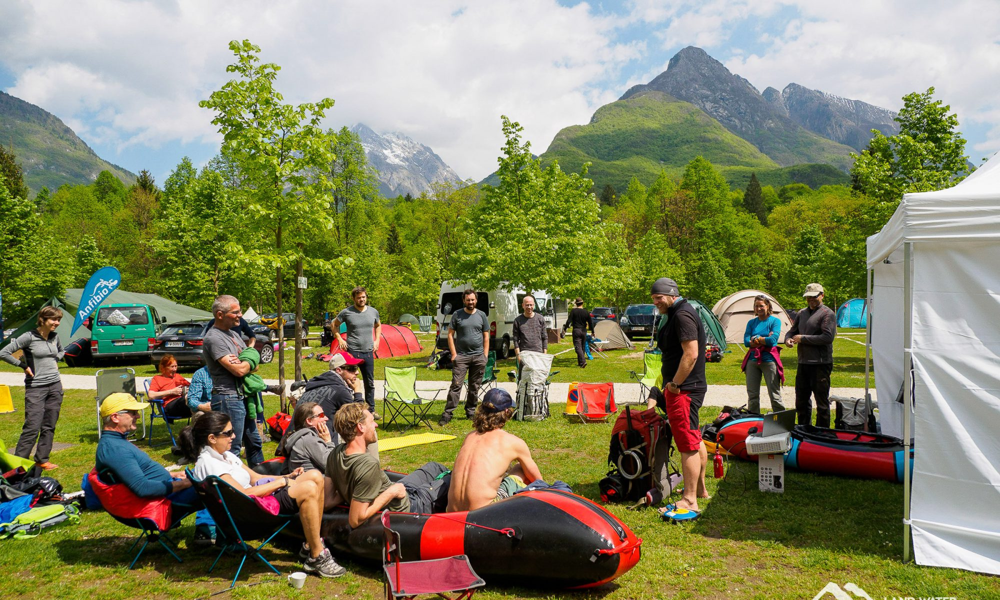Packsystemworkshop Packrafting beim European Packrafting Meet-up 2019 © Land Water Adventures