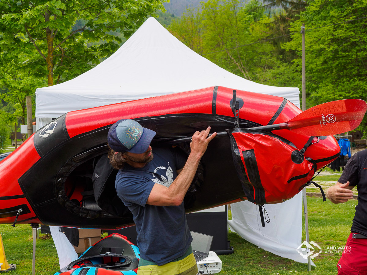 Packsystem Workshop beim European Packrafting Meet-up 2019 © Land Water Adventures