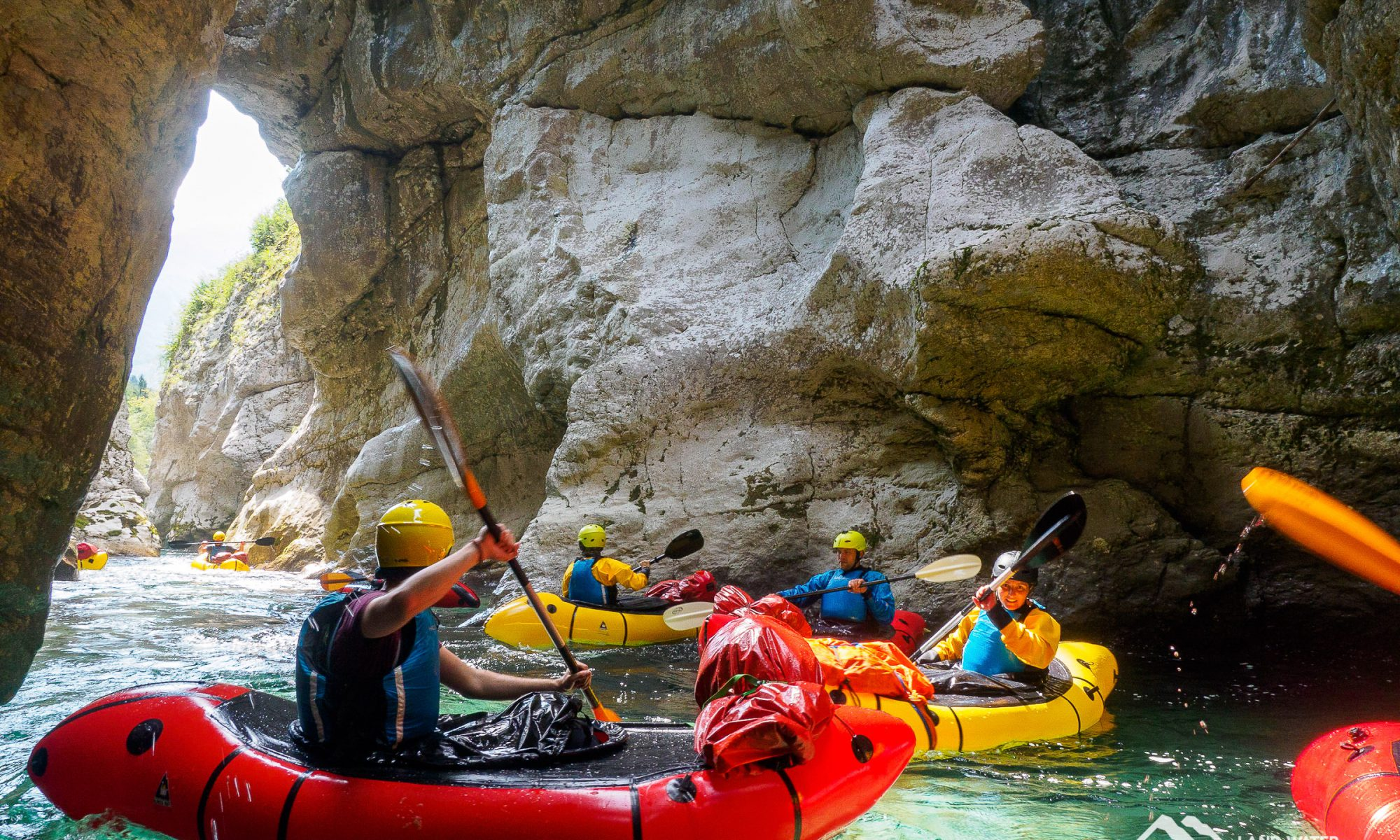 Im Soca-Canyon © Land Water Adventures