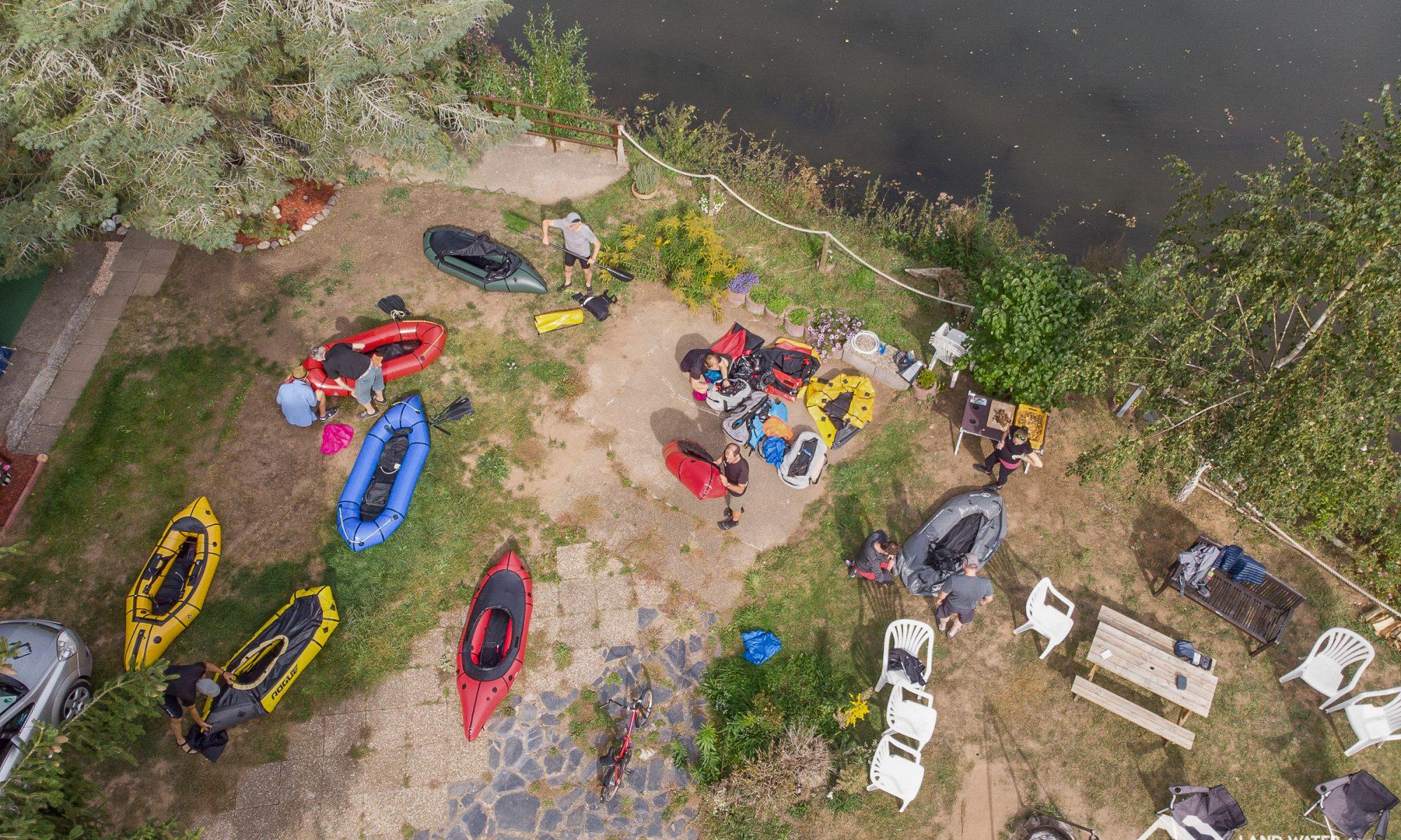 Saisonabschluss Nahe am Campingplatz Nahe-Alsenzeck aus der Luft © Land Water Adventures